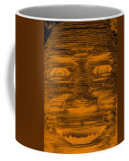 In Your Face In Negative Orange Coffee Mug