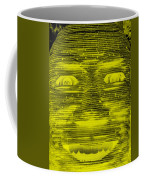 In Your Face In Negative Yellow Coffee Mug