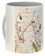 India And Malaysia Coffee Mug by Battista Agnese