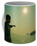 Indian Guide On The Sea Coffee Mug