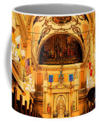 Inside St Louis Cathedral Jackson Square French Quarter New Orleans Ink Outlines Digital Art Coffee Mug