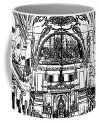 Inside St Louis Cathedral Jackson Square French Quarter New Orleans Stamp Digital Art Coffee Mug