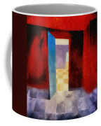Interior With Red Walls Coffee Mug
