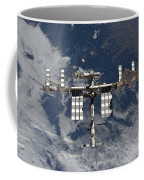 International Space Station Backgropped Coffee Mug