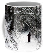 Into The Snowy Forest Coffee Mug