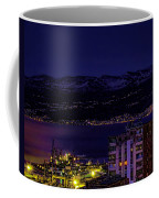 Istrian Riviera At Night Coffee Mug