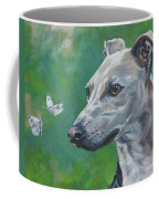 Italian Greyhound With Cabbage White Butterflies Coffee Mug