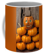 Jack-o-lantern On Stack Of Pumpkins Coffee Mug