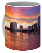 Jacksonville Skyline At Dusk Coffee Mug by Debra and Dave Vanderlaan