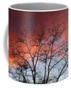 January Sunset Silhouette Coffee Mug