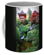 Japanese Garden With Pagoda And Pond Coffee Mug