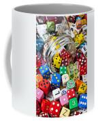 Jar Spilling Dice Coffee Mug