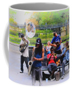 Jazz Band At Jackson Square Coffee Mug by Bill Cannon