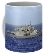 Jds Atago Sails In Formation With U.s Coffee Mug