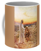 Jesus Withe The One Leper Who Returned To Give Thanks Coffee Mug