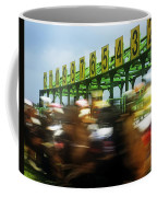 Jockeys Leaving Starting Gates Coffee Mug