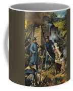 John Brown On 30 August 1856 Intercepting A Body Of Pro-slavery Men Coffee Mug by Andrew Howart