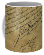 John Hancocks Signature Coffee Mug