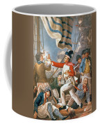 John Paul Jones Shooting A Sailor Who Had Attempted To Strike His Colours In An Engagement Coffee Mug