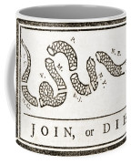 Join Or Die French And Indian War Coffee Mug by Photo Researchers