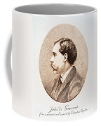 Jules A.h. De Goncourt (1830-1870). French Novelist: Engraving After A Contemporary Portrait On Enamel Coffee Mug
