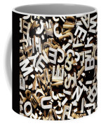 Jumbled Letters Coffee Mug