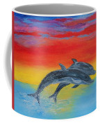 Jumping Dolphins Right Coffee Mug