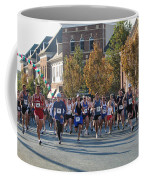 Just After The Gun At A Running Race On A Town Street Coffee Mug