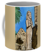 Karnak Temple Egypt Coffee Mug by Irina Sztukowski