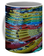 Kayak Row Coffee Mug