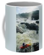 Kayaker Running Maryland Side Of Great Coffee Mug