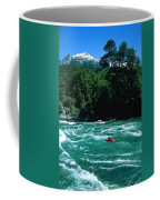 Kayaker Surfing Terminator Rapid Waves Coffee Mug