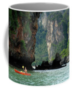Kayaking In Thailand Coffee Mug