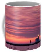 Kewaunee Lighthouse At Sunrise Coffee Mug