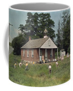 Kids Play Baseball During Recess Coffee Mug by J. Baylor Roberts