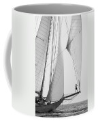 king of the world - a classic sailboat with all sails plying the sea on the island of Menorca Coffee Mug