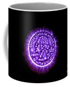 Kirlian Photograph Of An U.s. Quarter Coffee Mug