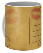 Kiss Lips On Postcard Coffee Mug