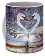 Kissing Swans Coffee Mug