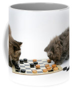 Kittens Playing Checkers Coffee Mug