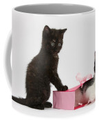 Kittens Playing With Birthday Gift Bag Coffee Mug