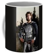 Knight In Shining Armour Coffee Mug by Yedidya yos mizrachi