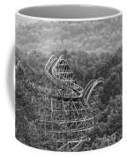 Knobels Wooden Roller Coaster Black And White Coffee Mug