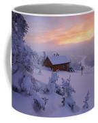 La Chouette Cabin At Twilight, Gaspesie Coffee Mug