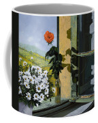 La Rosa Alla Finestra Coffee Mug by Guido Borelli