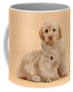 Labradoodle Puppy With Rabbit Coffee Mug