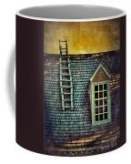 Ladder On Roof Coffee Mug