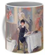 Lady At A Cafe Table  Coffee Mug