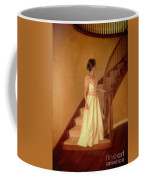 Lady In Lace Gown On Staircase Coffee Mug