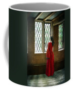 Lady In Tudor Gown Looking Out A Window Coffee Mug